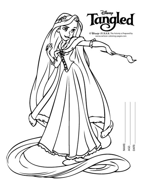 rapunzel colouring pages