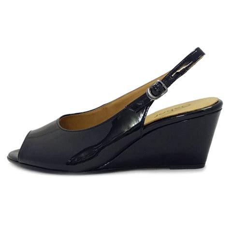 Wedges Rm 69 Wedges Belang gabor shoes betti slingback low wedge heels in black