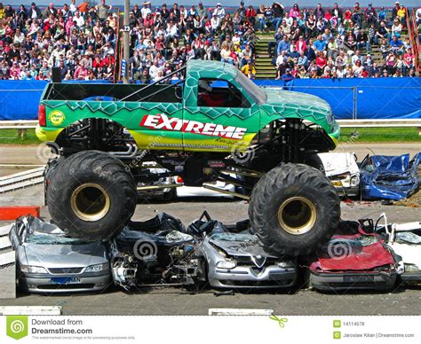 monster truck extreme racing extreme monster truck editorial stock photo image of race