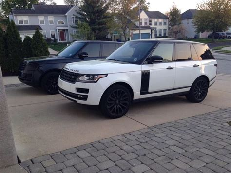 white land rover black rims 25 beste idee 235 n over witte range rovers op pinterest