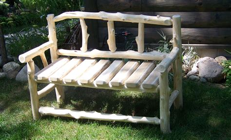 benches made from logs benches made from doors simple home decoration