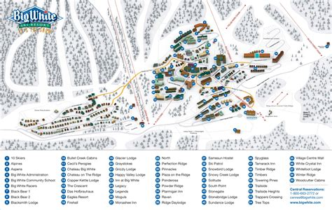 map of big big white ski resort skimap org