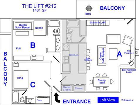 lift floor plan breckenridge lodging ski condo rental
