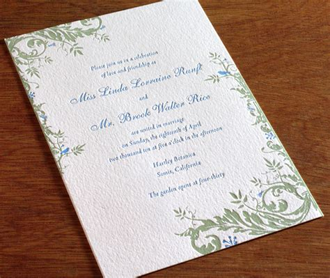 price letterpress wedding invitations floral wedding invitation gallery