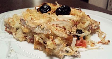 cucinare le sardine fresche tortino di sardine patate e cipolle
