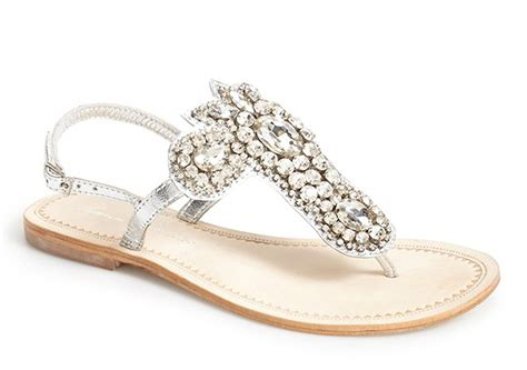 braut sandalen flach rhinestone sandals for wedding crafty sandals
