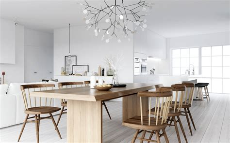 Nordic Home Design | atdesign wooden dining nordic style interior design ideas
