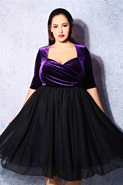 Cc Dress Black Purple jo black purple velvet prom dress plus size 14 16 18 20 22 24 26 28