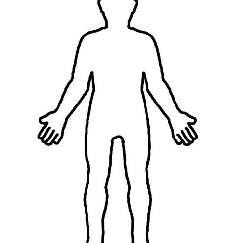 Person Outline Clip by Blank Person Coloring Page Coloring Page