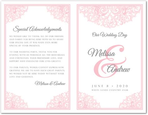 28 Images Of 2 Fold Wedding Program Template Free Netpei Com Bi Fold Wedding Program Template