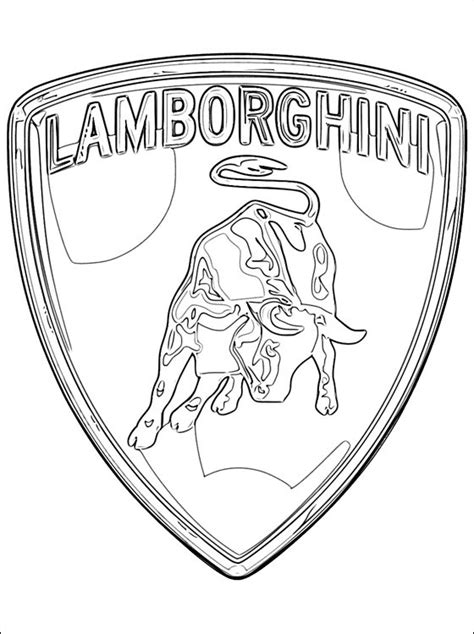 cars logo coloring pages free coloring pages of lamborghini logo