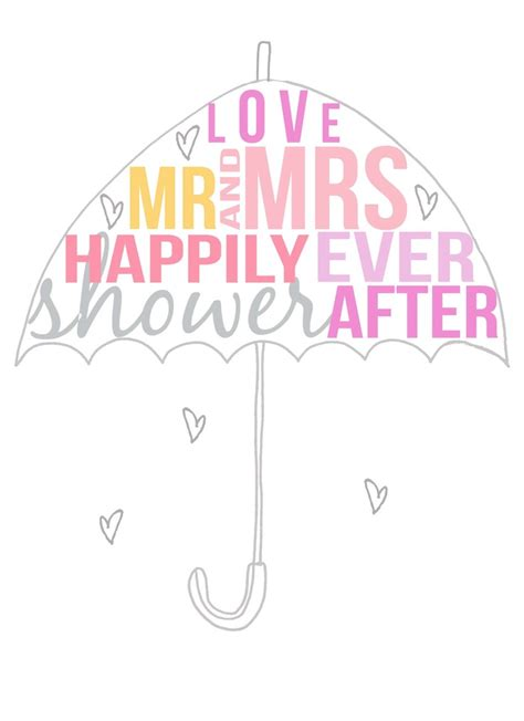 free couples bridal shower wedding shower umbrella clipart 42