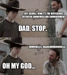 Rick Carl Memes - the walking dead meme rick and carl www imgkid com the