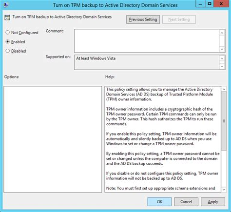 Encryption Policy Template by Tutorial Configuring Bitlocker To Store Recovery In