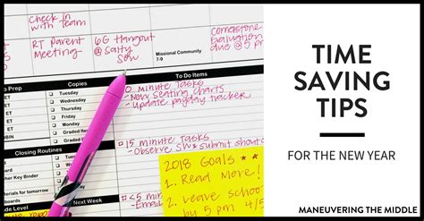 8 Timesaving Tips by Time Saving Tips For The New Year Maneuvering The Middle