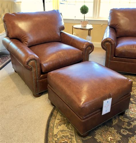classic leather chair and ottoman classic leather mccall chair ottoman curriers
