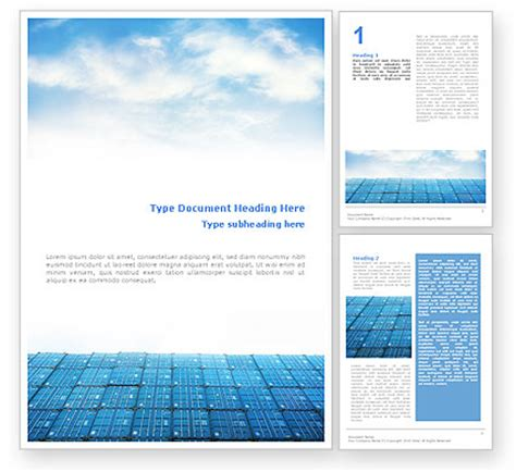 Container Word Template 01650 Poweredtemplate Com Microsoft Word Doc Templates