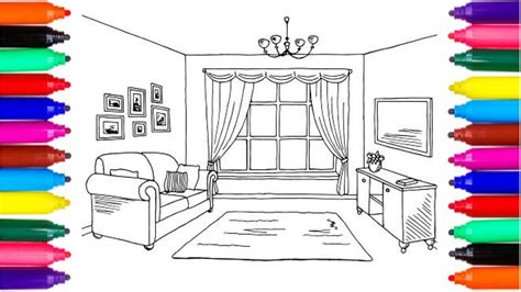 Drawing Room Colour Games | coloring pages living room drawing pages to color for