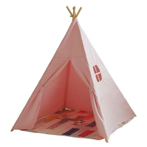 Tenda Anak Indoor lovely teepee kid play tent cotton canvas