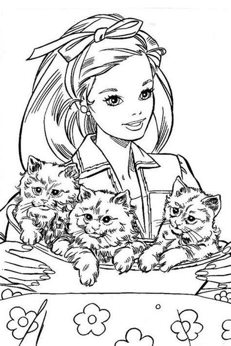 barbie cat coloring pages barbie coloring pages overview with great barbie sheets