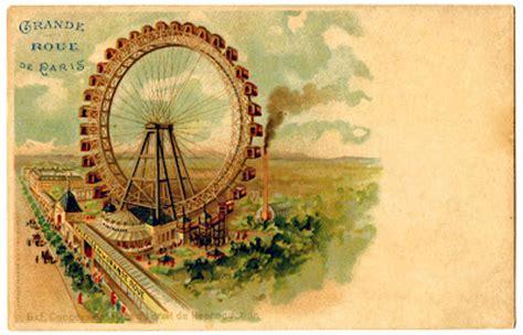 vintage graphic paris ferris wheel