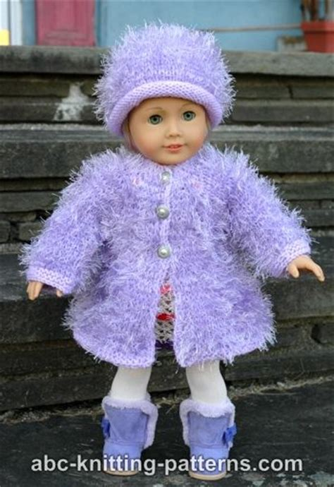 free knitting patterns for dolls clothes and toys abc knitting patterns american doll fur coat