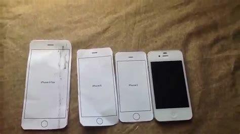 How To Make A Paper Iphone 4 - size comparison paper template iphone 6 plus vs paper