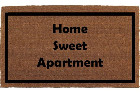 apartment sweet apartment rug home sweet apartment door mat coir doormat rug by franklinandfigg