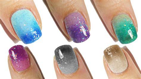 tutorial nail art degrade ombr 232 degrade nails tutorial youtube