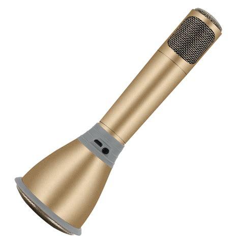 Mic Karoke by Tuxun K068 Karaoke Mic Speaker Gold