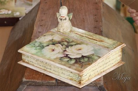 decoupage wood wooden decoupage box boxes with decoupage