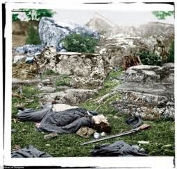 The grim reality of the civil war in color painstaking photoshopping