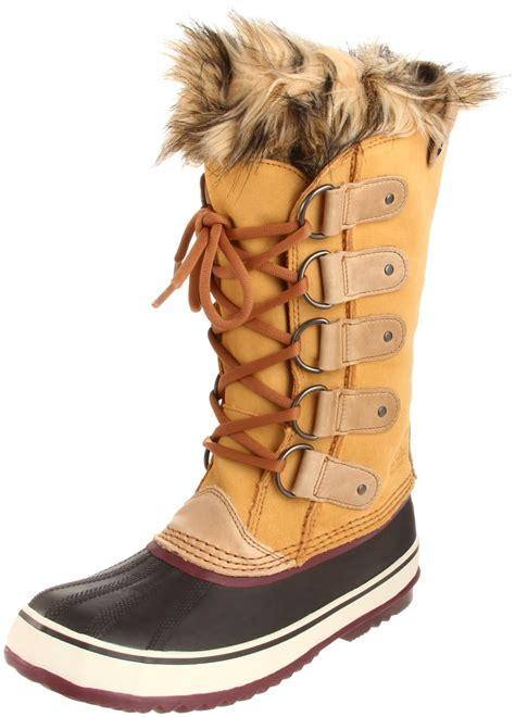 sorel womens joan of arctic boot in beige taffy port
