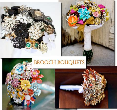 Wedding Bouquet Vintage Brooches by Vintage Brooch Bouquets