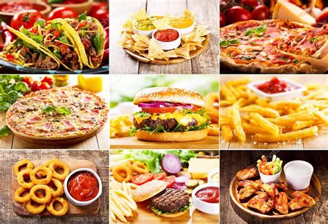 Collage Of Fast Food Products Stock Photo 169 Nitrub 83788192 Fast Food Collage