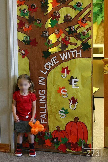 fall door decorations for school falling in jesus and in on