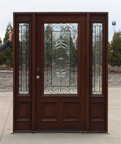 Iron And Glass Front Doors Exterior Door With Iron And Glass