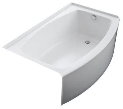 curved bathtub kohler k 1100 ra 96 expanse curved integral apron bathtub
