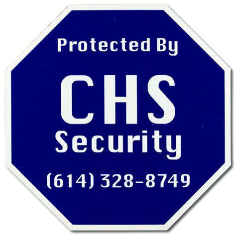 home security signs and home security decals instant