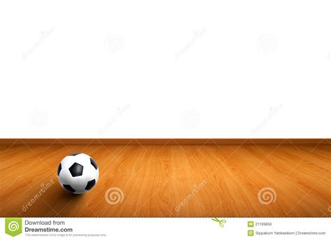 wood ball floor l wall and wooden floor with a ball royalty free stock image