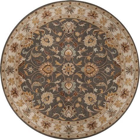 Artistic Weavers John Taupe 4 Ft X 4 Ft Round Area Rug 4 Ft Rugs