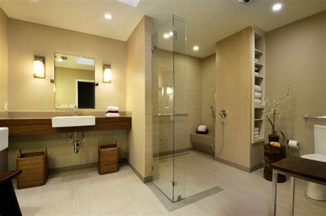 universal design contemporary bathroom by