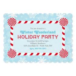 winter wonderland holiday party invitation zazzle