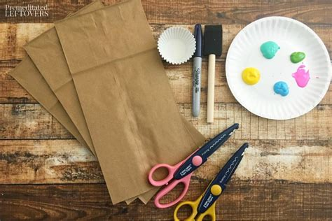Paper Craft Supplies - paper bag jellyfish craft with cupcake liners tutorial