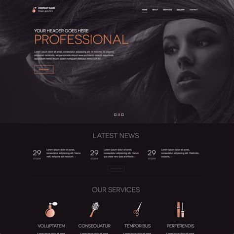beauty salon websites templates free download ease template sleek beauty salon free responsive website template