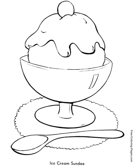 coloring page ice cream sundae summer coloring pages ice cream sundae 13 az coloring