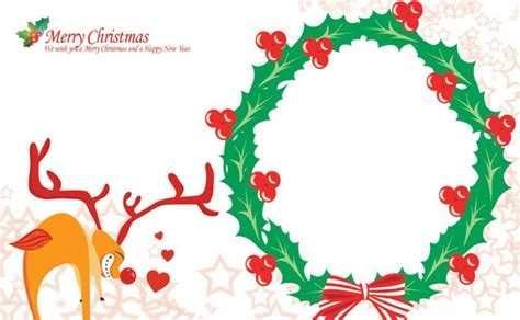 merry photo card template free cards templates downloading and