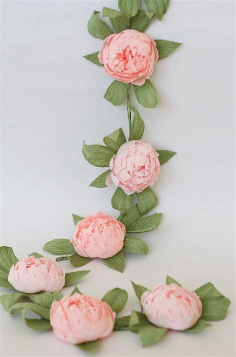 Garland With Paper Flowers - bridal garland wedding garland paper flower garland