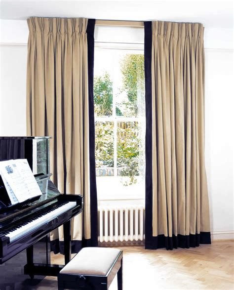 Triple Pleat Curtain Heading Curtains With Borders Made To Measure Curtains With Borders