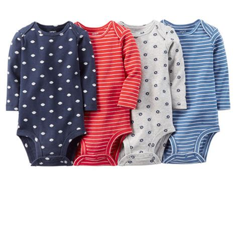4 pack sleeve bodysuits carters